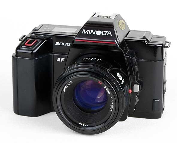 2 Cameras, 1 Minolta 5000 AF 1987, 1 minolta Dynax 500si 1994 with ...